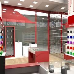 Loja artigos para celular: Lojas e imóveis comerciais  por Tatiane Corcini Arquitetura e Interiores
