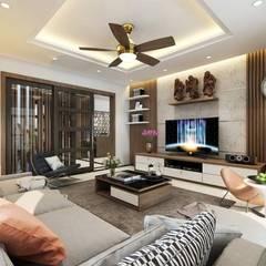 Salas de estilo asiático por Công ty TNHH Thiết Kế Xây Dựng Song Phát