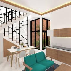 Rumah Kelapa Gading Mrs. Vika's.:  Ruang Keluarga by SEKALA Studio