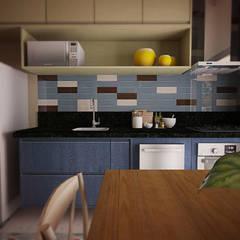 COZINHA : Cozinhas  por THACO. Arquitetura e Ambientes