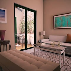SALA DE ESTAR: Salas de estar  por THACO. Arquitetura e Ambientes