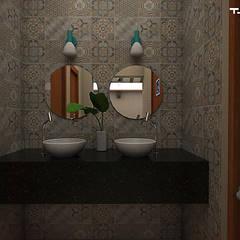 حمام تنفيذ THACO. Arquitetura e Ambientes