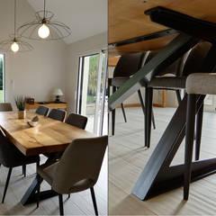 MODERNISME MINÉRAL À GRANDCHAMPS-DES-FONTAINES: Salle à manger de style de style Moderne par UN AMOUR DE MAISON
