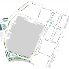 Norteshopping: Jardins de fachada  por Claudia Gomes