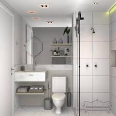 Banheiro social: Banheiros  por Decoropravocê - Decoração ao seu alcance.
