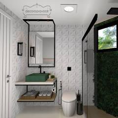 Banheiro Social - Lavabo: Banheiros  por Decoropravocê - Decoração ao seu alcance.