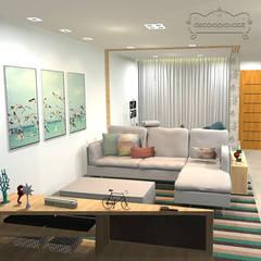 Sala: Salas de estar  por Decoropravocê - Decoração ao seu alcance.