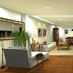 sala: Salas de jantar  por Decoropravocê - Decoração ao seu alcance.