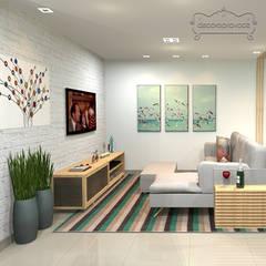 Sala Casa na Praia: Salas de estar  por Decoropravocê - Decoração ao seu alcance.
