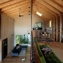 Living room by 稲山貴則 建築設計事務所, Industrial Plywood
