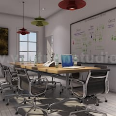 Wooden Flooring Conference Room Design Ideas by Yantram 3d interior designers Morocco:  Conservatory by Yantram Architectural Design Studio