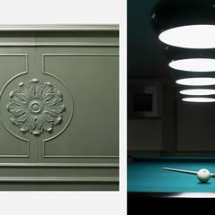 Ruang Multimedia oleh Turati Boiseries, Klasik Kayu Wood effect
