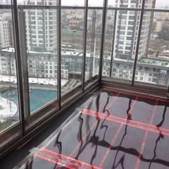 Karbonik ısıtma sistemleri – Kış bahçesi ısıtma | kapalı balkonlarda zeminden ısıtma:  tarz Zeminler