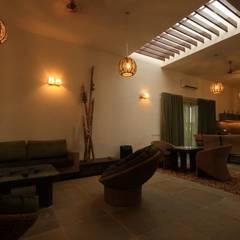 WEEKEND HOUSE,TAPOVAN:  Corridor & hallway by SPACCE INTERIORS