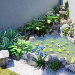 Trivisio Consultoria e Projetos em 3D:  tarz Bahçe süs havuzu