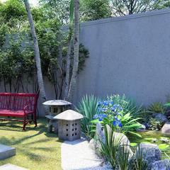 Jardines zen de estilo  por Trivisio Consultoria e Projetos em 3D