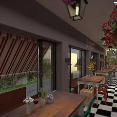 CAFETERIA: Bares e clubes  por THACO. Arquitetura e Ambientes