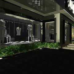 FACHADA: Espaços comerciais  por THACO. Arquitetura e Ambientes