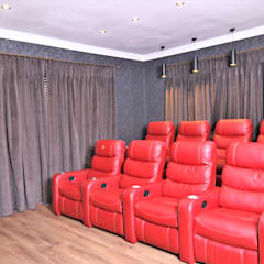 Interior Design and Decor:  Media room by Motama Interiors and Exteriors,
