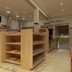 GONDOLAS: Espaços gastronômicos  por THACO. Arquitetura e Ambientes