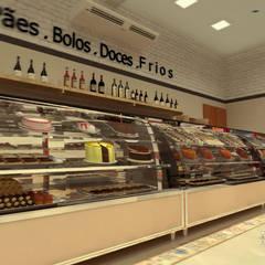 BALCÃO REFRIGERADO: Espaços gastronômicos  por THACO. Arquitetura e Ambientes
