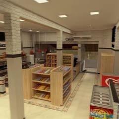 PADARIA: Espaços gastronômicos  por THACO. Arquitetura e Ambientes