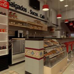 ALIMENTOS: Espaços gastronômicos  por THACO. Arquitetura e Ambientes