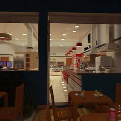 CAFETERIA: Espaços gastronômicos  por THACO. Arquitetura e Ambientes
