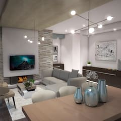 Interior Design for Phakalane Estate House:  Living room by Kori Interiors