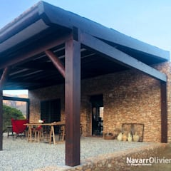 Lean-to roof by NavarrOlivier, Country Wood Wood effect