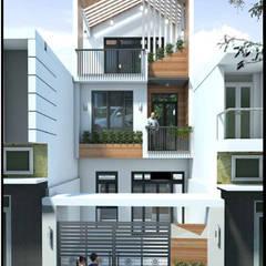 منازل التراس تنفيذ Công ty thiết kế xây dựng Song Phát