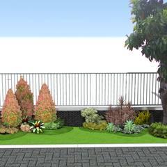 Desain Taman Untuk Halaman Luar Pagar: Taman oleh Tukang Taman Surabaya - Tianggadha-art, Modern Bambu Green