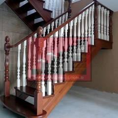 RST AHŞAP  – AHŞAP TAŞIYICILI MERDİVEN :  tarz Merdivenler