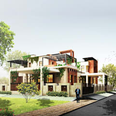 Perspective View:  Villas by Chaukor Studio