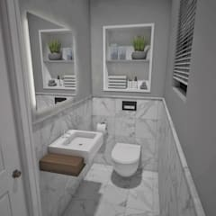 Guest Toilet: minimalistic Bathroom by Kori Interiors