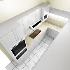 Small Kitchen:  Kitchen by KGOBISA PROJECTS, Minimalist