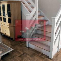 RST AHŞAP  – AHŞAP TAŞIYICILI MERDİVEN:  tarz Merdivenler