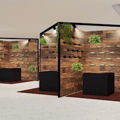 ​Stand design for the wine fair: Sedi per eventi in stile  di Studio Maiden