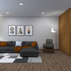 Remodelação Interior de Habitação: Salas de estar  por arcq.o | rui costa & simão ferreira arquitectos, Lda.,Asiático