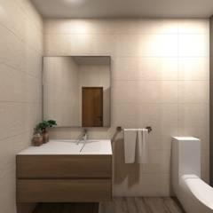 Remodelação Interior de Habitação: Casas de banho  por arcq.o | rui costa & simão ferreira arquitectos, Lda.,Asiático