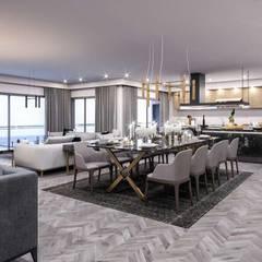 VERO CONCEPT MİMARLIK – Kalafatoglu Marina Residence:  tarz Oturma Odası,