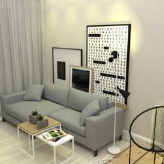Sala de estar: Salas de estar escandinavas por Cara Nova Arquitetura