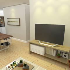 Sala de estar: Salas de estar  por Cara Nova Arquitetura