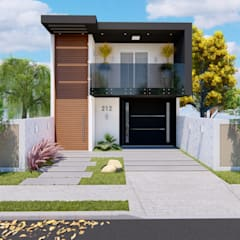 Casas de estilo  por ELLEVVE Arquitetura e Design