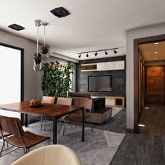 Apartment Interior in East Town Sodic:  غرفة المعيشة تنفيذ Zoning Architects, حداثي