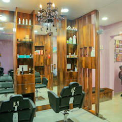 Hair Cutting Area.:  Commercial Spaces by ZEAL Arch Designs
