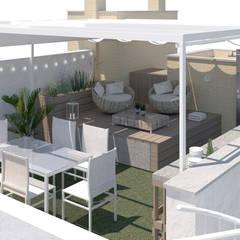 Infografías terraza en Málaga: Terrazas de estilo  de Lilura Design
