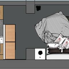 planimetria parte rialzata: Pavimento in stile  di Lambda Design