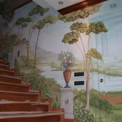Decorazione pareti scale: Scale in stile  di Meraki di Irene Mancini