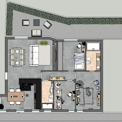 PROPOSTA DI PROGETTO APPARTAMENTO A CORMANO: Pavimento in stile  di Lambda Design